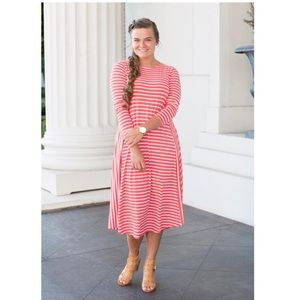 Everyday Dainty Jewells Striped Dress